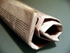 Newspaper Photo by Nadia Szopinska (Flickr)